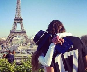 love, paris, and kiss image