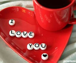 love, coffee, and red image