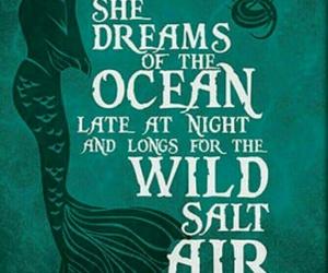mermaid, ocean, and Dream image