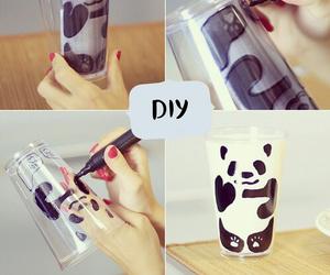 diy, panda, and milk image