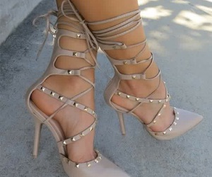 fashion, heel, and tan image