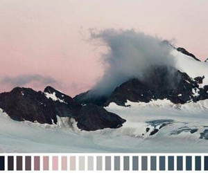black, colour, and mountains image