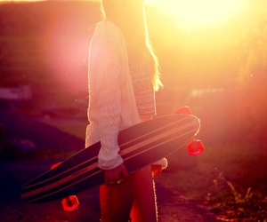 girl, sunset, and sun rise image