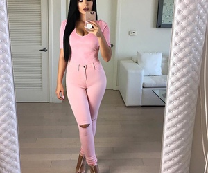 style, all pink, and girls image