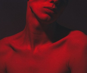 boy and red image