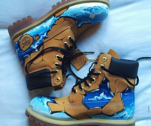 boots, timberland, and shoes image