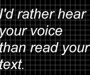 text, quotes, and voice image