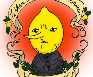adventure time, lemon, and funny image