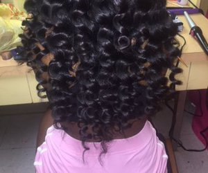 girl, weave, and hair image