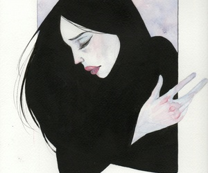 draw, girl, and paint image