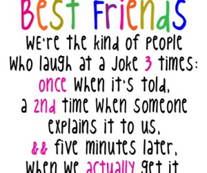 best friends, quotes, and joke image