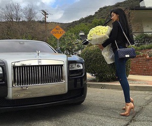 chanel, car, and roses image