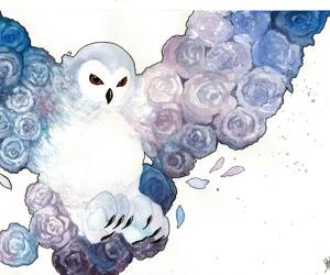 blue, draw, and owl image