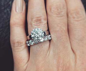 engagement ring, diamond ring, and wedding ring image
