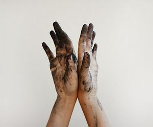 dirty, flickr, and hands image