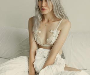boudoir, white, and bralette image
