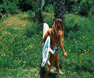 girl and surf image