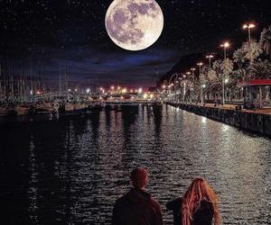 night, love, and moon image