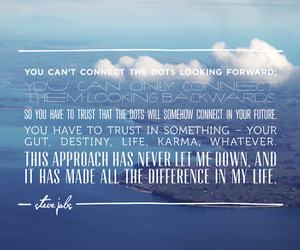 quote, skies, and Steve Jobs image