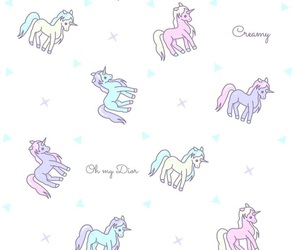 unicorn, wallpaper, and pastel image