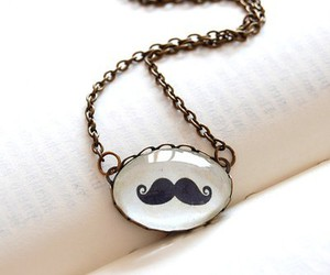 moustache, mustache, and necklace image