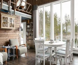 house, cabin, and Scandinavian image