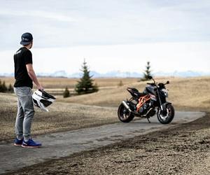 bike, biker, and fast image