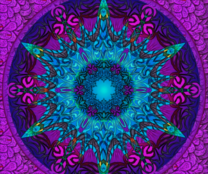 art, mandala, and psychedelic image