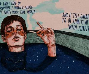 quote, art, and alone image