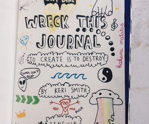 art, wreck this journal, and inspiration image