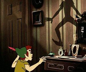 peter pan, disney, and shadow image