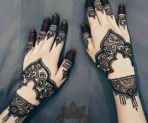 bridal, henna, and pakistan image