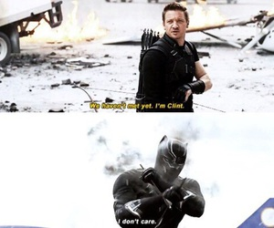 black panther, iron man, and ciwil war image