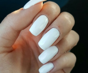 we heart it, square nails, and nails addicted image