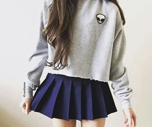 outfit, skirt, and tumblr image