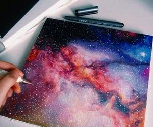 art, galaxy, and drawing image