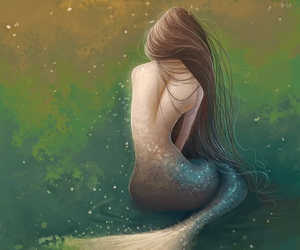 beautiful, girl, and mermaid image