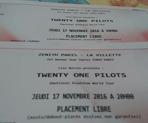 concert, paris, and tickets image
