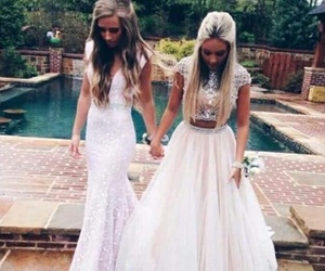 dress, Prom, and best friends image