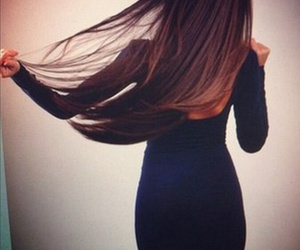 girl, hair, and dress image