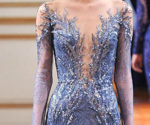 glitter, dress, and haute couture image
