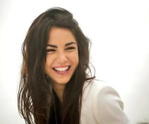 brunette, happy, and chiara biasi image