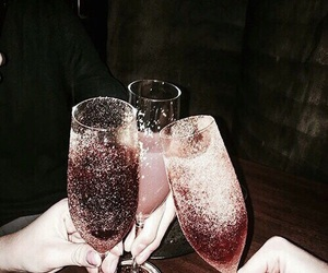 champagne, party, and cheers image