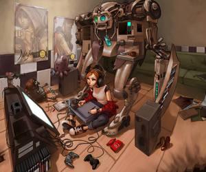 girl and robot image