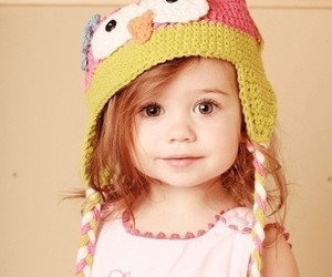 child, girl, and hat image