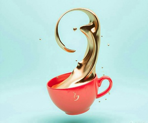 coffee, gold, and pink image