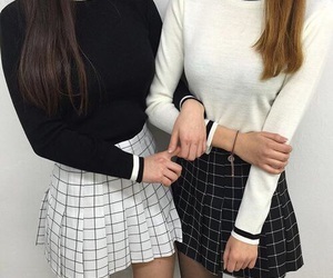 black, friends, and outfit image