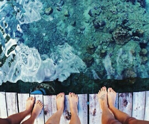 summer, water, and friends image