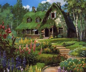 house, flowers, and studio ghibli image
