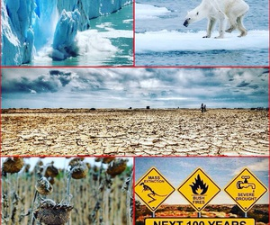 climate change, danger, and no future image